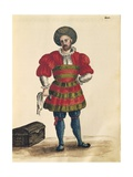 Venetian Clothing: Venetian Traveler Giclée-Druck von Jan van Grevenbroeck