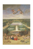 View of the Orangerie at Versailles Giclee Print by Jean the Younger Cotelle
