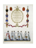 Frontispiece, from 'Ceremonial of the Coronation of His Most Sacred Majesty King George the Fourth' Giclee Print by John Whittaker