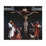 Crucifixion, Central Panel of the Isenheim Altarpiece, Ca 1515 Giclée-tryk af Matthias Grünewald