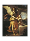 The Guardian Angel, 1641 Giclee Print by Giovanni Francesco Barbieri