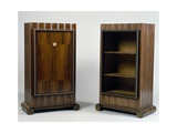 Art Deco Style Mini Bar and Bookcase, Stelcavgo Model, 1928 and 1927 Gicléetryck av Jacques-emile Ruhlmann