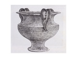 Large Vase in Alabaster Unearthed During the Excavations in Mycenae Giclee Print by Heinrich Schliemann
