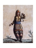 Woman of Hudson Bay in Traditional Costume, Color Engraving by Laroque Giclee Print by Jacques Grasset de Saint-Sauveur