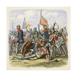 Death of Hotspur, Sir Henry Percy, from a Chronicle of England BC 55 to Ad 1485, Pub. London, 1863 Reproduction procédé giclée par James William Edmund Doyle