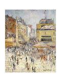 Bastille Day on Rue De Clignancourt, Paris; La Quartorze Juillet a Paris, La Rue De Clignancourt Giclee Print by Gustave Loiseau