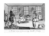 """A New Way of Preserving Heath and Beauty, Illustration Taken from """"Ramblers Magazine"""", 1786 Giclee Print by Haynes King"""