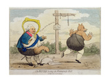 The Kettle Hooting the Porridge-Pot, Published by P.J. Leatherhead in 1782 Giclee Print by James Gillray