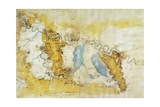 Map of North-West of Tuscany from Florence to Sea Giclee Print by  Leonardo da Vinci