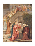 Certain Ladies of Her Companionship Gathered Themselves with Beatrice Giclee Print by Marie Spartali Stillman