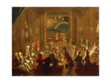 Initiation Ceremony in Viennese Masonic Lodge, During Reign of Joseph II Giclee Print by Ignaz Unterberger