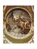 Tondo Showing a Whaling Scene Giclee Print by Giulio Romano