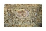 Fall of Phaeton, Fresco from the Ceiling of the Great Hall Giclee Print by Giulio Benso