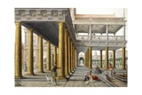 Palace Court, Detail from Fantastic Architectural View with Figures, 1568 Giclee Print by Hans Vredeman de Vries