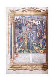 Illuminated Manuscript Depicting a King and His Army before a City, 1503-04 Giclee Print by Jacques De Besancon