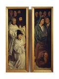 Panel of Monks and Panel of Fishermen, Detail from Altarpiece of St Vincent, 1460-1470 Giclee Print by Nuno Goncalves