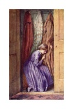 She Hid Her Face in the Folds of a Certain Dear Old Gown, and Made Her Little Moan Giclee Print by Harold Copping