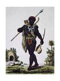 Man from Namaquas Tribe, Africa, Engraving from Encyclopedia of Voyages, 1795 Giclee Print by Jacques Grasset de Saint-Sauveur