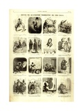 Review of the Fourth Quarter of 1856, from the 'Journal Amusant', 17 January 1857 Giclee-trykk av Nadar