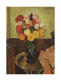 Vase of Flowers on a Round Table, Vase De Fleurs Sur Une Table Ronde, 1920 Giclee Print by Marie Clementine Valadon