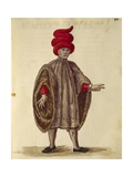 "Young Man Wearing ""Dogalina"", Formal Robe with Wide Sleeves Giclee Print by Jan van Grevenbroeck"