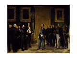 Annexation of Italy Presented to Victor Emmanuel II by Tuscan Delegates Giclee Print by Giovanni Mochi