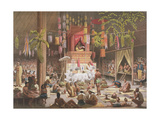 Festival in a Pagoda at Ngong Kair, Laos Giclee Print by Louis Delaporte