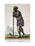 Senega Negro, Color Engraving from Encyclopedie Des Voyages Giclee Print by Jacques Grasset de Saint-Sauveur