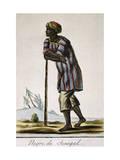 Senega Negro, Color Engraving from Encyclopedie Des Voyages Giclee Print by Jacques Grasset de Saint-Sauveur