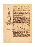 Ex Ludis Rerum Mathematicarum: 'Measure of the Sight of a Bombard with the Equilibra' Giclee Print by Leon Battista Alberti