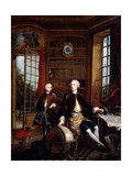 Portrait of the Artist's Son with His Teacher Giclee Print by Jacques De Lajoue