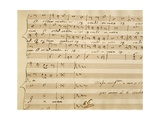 Handwritten Music Score of Mass for Four Voices, Kyrie Eleison Giclee Print by Giovanni Pierluigi da Palestrina