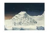 Igloo at North Hendon, Engraving from Narrative of Second Voyage in Search of North-West Passage Giclee Print by John Ross