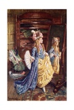 """""""Ain't We Fine Get Along, You Fright! Hold Your Tongue! Kiss Me, Dear; Ha! Ha!"""" Giclee Print by Harold Copping"""