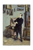 Self-Portrait of Giovanni Boldini Looking at a Picture, Ca 1865 Giclee Print by Giovanni Boldini