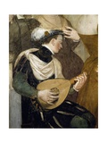 Lute Player, Detail from Invitation to Dance, Ca 1570 Giclee Print by Giovanni Antonio Fasolo