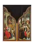The Fathers of the Church and the Donors, from the Triptych of the Immaculate Conception Giclee Print by Jean The Elder Bellegambe