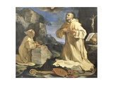 The Vision of St Bruno, 1647 Giclee Print by Giovanni Francesco Barbieri