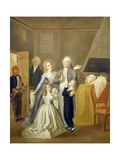 Louis XVI's Farewell to His Family, January 20, 1793 Giclee Print by Jean-Jacques Hauer