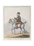 A Scotch Poney, Commonly Call'D a Galloway Giclee Print by James Gillray