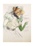 Artist with Green Gloves - Singer Dolly from Star at Le Havre, 1899 Lámina giclée por Henri de Toulouse-Lautrec