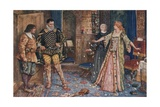 So Saying, She Tore in Pieces Leicester's Letter and Stamped Upon Them as They Fell to the Floor Giclee Print by Henry Justice Ford