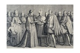 Wedding of Ferdinando De' Medici and Christine of Lorraine, 1589 Giclee Print by Jacques Callot