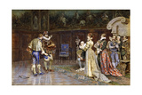 A Presentation of Henri IV of France at the Court of Marguerite Valois, 1887 Giclee Print by Giuseppe Aureli