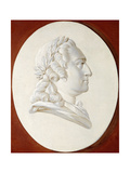 Portrait of King Louis XV, Bust-Length, in a Painted Oval, a Trompe L'Oeil Medallion Giclee Print by Henri Roland De La Porte