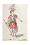 Costume Design for a Performance in Paris in 1762 of Lully's Opera 'Acis Et Galatee' Giclee Print by Nicolas Boquet