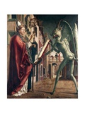 St Wolfgang and the Devil, Life of St Wolfgang, 1471-1475 Giclée-Druck von Michael Pacher