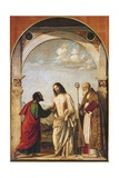 Doubting Thomas with Bishop Magno, 1505 Giclee Print by Giovanni Battista Cima Da Conegliano