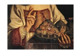 San Marino in Act of Blessing City Which He's Holding in His Hand Giclee Print by Giovanni Francesco Barbieri