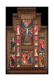 Design for Reredos at Holy Trinity Church, Florence, in Gothic Revival Frame by Bernini of Florence Giclee Print by John Roddam Spencer Stanhope